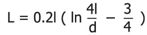 inductance calculation formular