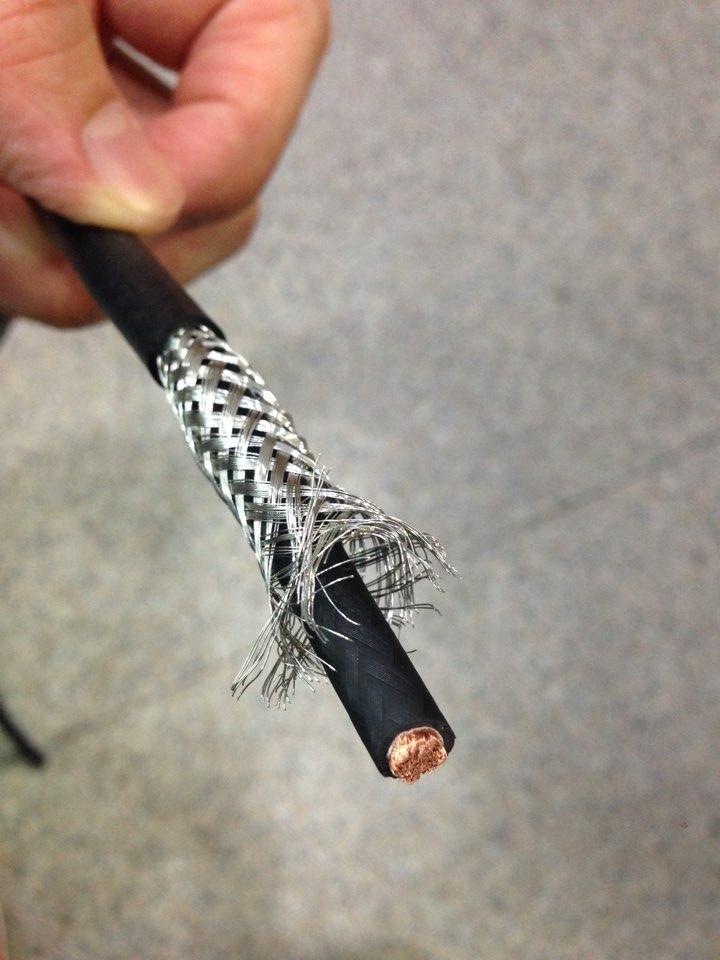 PVC braid shielding Cable